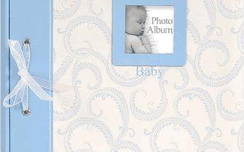 FOTOALBUM modré Baby Traditional - album na růžky