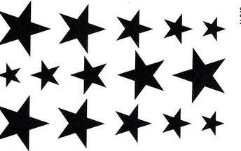 Tetování - sada hvězd