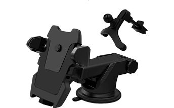 Multifunkční držák na telefon s přísavkou na přední sklo - 2 barvy
