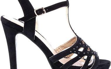 Černé sandálky MD7091-1B 36