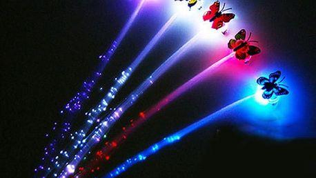 Svítící klip do vlasů s motýlkem