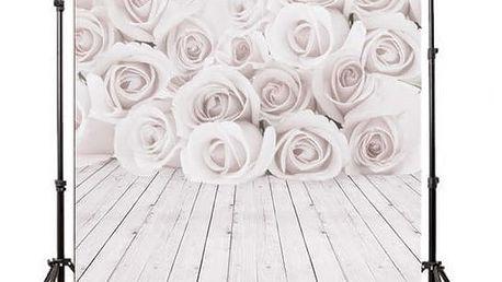 Ateliérové fotopozadí 150 x 210 cm - Bílé růže