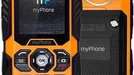 Mobilní telefon myPhone HAMMER PLUS Dual SIM (TELMYHHAPOR) černý/oranžový Software F-Secure SAFE 6 měsíců pro 3 zařízení (zdarma)