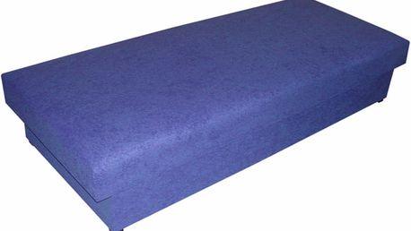 Postel TORNÁDO, 195x80 cm, čalouněná, látka: mikrofáze 6 - tmavě modrá