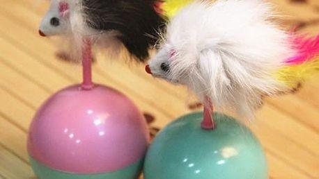 Hračka pro kočky - myš na balonku