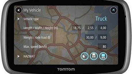 Navigační systém GPS Tomtom TRUCKER 500, LIFETIME mapy (1FA5.002.60) stříbrná + Doprava zdarma