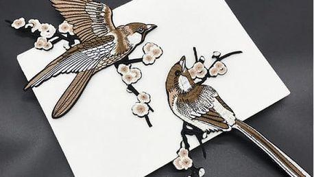 Moderní nažehlovací nášivky Ptáčci