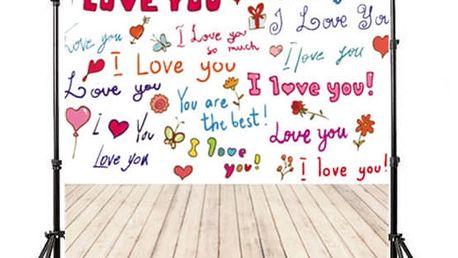 Ateliérové fotopozadí 90 x 150 cm - Zamilované nápisy