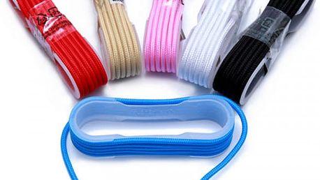 USB nabíječka na telefon ve tvaru tkaničky - více barev