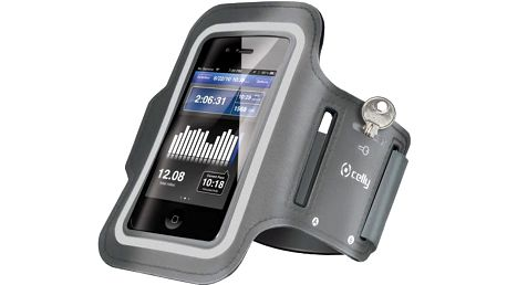 CELLY sportovní neoprénové pouzdro pro Apple iPhone 6 Plus, šedá - ARMBAND07