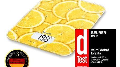 Kuchyňská váha BEURER KS 19 LEMON