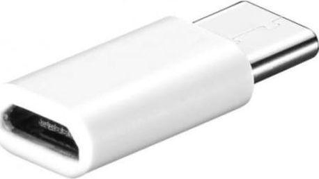 Adaptér USB Type-C do micro USB v bílé barvě