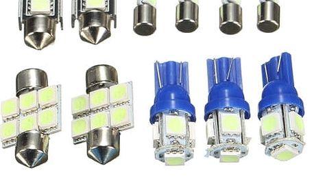 Balení modrých interiérových LED žárovek