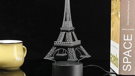 LED lampička ve 3D - Eiffelova věž