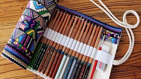 Penál na tužky nebo kosmetické štětce Ethnic