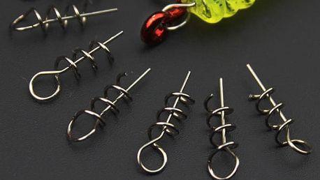 Zavrtávací háčky do rybářských návnad - 50 kusů