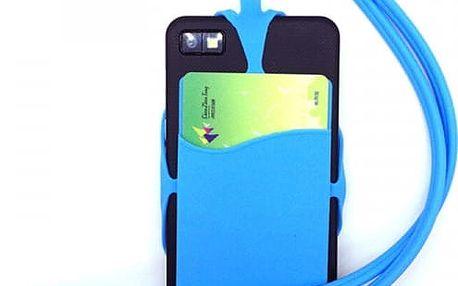 Univerzální silikonové pouzdro na telefon s popruhem - 7 barev