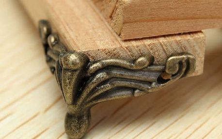 Kryty na rohy nábytku v bronzové barvě