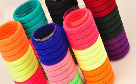 Vlasové gumičky pro děti - 50 ks