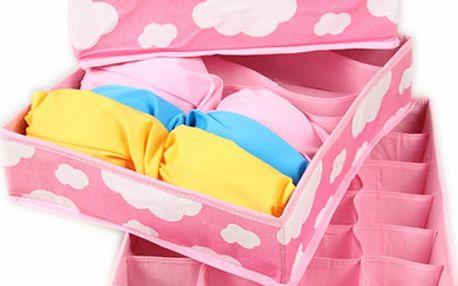 Organizér na spodní prádlo v růžové barvě