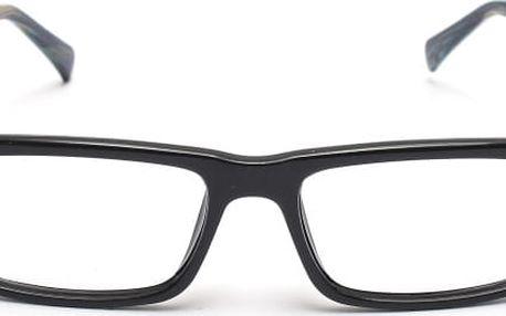 Nedioptrické brýle v moderním provedení - černé obroučky bez skel
