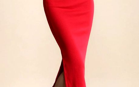 Dámská dlouhá sukně s rozparkem
