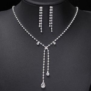 Slavnostní náhrdelník s kapičkou + 1 pár náušnic