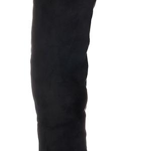 Černé kozačky nad kolena SW6099B 39