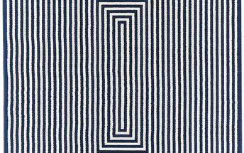 Modrý vysoce odolný koberec Floorit@ Braid, 200x285cm - doprava zdarma!
