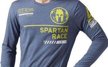 Reebok Spartan Race LS Tri Blend Spartan Branded Tee L