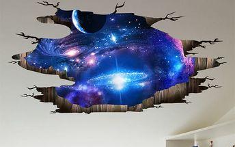 Samolepka na zeď - Výhled na galaxii