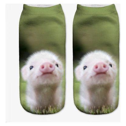 Dámské ponožky s roztomilými zvířátky