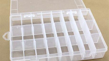 Organizér plastový v průhledné barvě - 24 míst