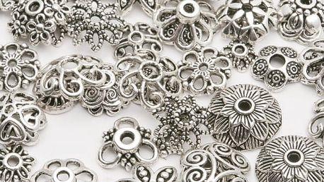 Koncové krytky různých tvarů na výrobu šperků - 2 barvy