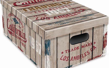 Sada 3 úložných krabic Ordinett Old California