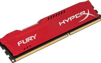 Kingston HyperX Fury Red 8GB DDR3 1600 CL 10 - HX316C10FR/8