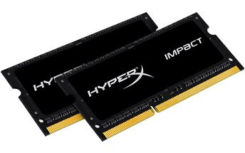 Kingston HyperX Impact Black 16GB (2x8GB) DDR3 1600 SODIMM CL 9 - HX316LS9IBK2/16