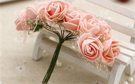 Květiny umělé na dekoraci - 12 ks