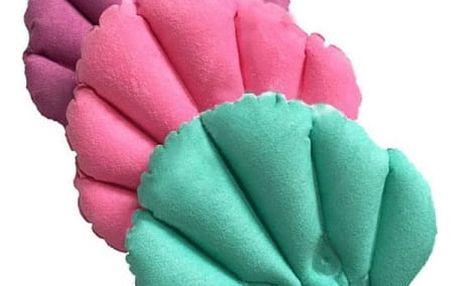 Nafukovací polštář do vany ve tvaru mušle