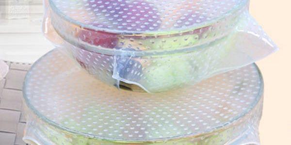 Silikonové fólie na uchování potravin - 4 kusy - dodání do 2 dnů