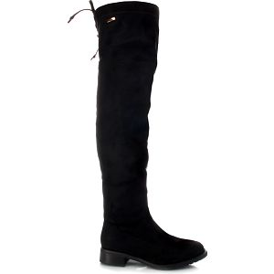 Černé kozačky nad kolena SW6099B 36