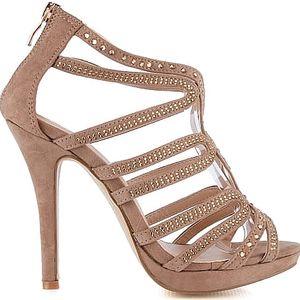 Sandálky na podpatku 7543KH 39