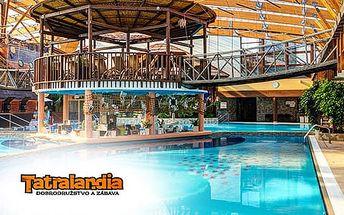 Celodenní vstup do Aquaparku Tatralandia nebo Gino Paradise Bešeňová