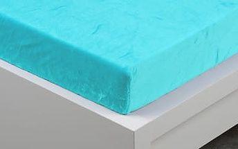 XPOSE ® Prostěradlo mikroflanel Exclusive dvoulůžko - azurová 220x200 cm