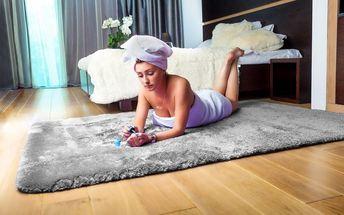 Kusový koberec COMFORT stříbrný 120x170