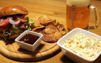 Burger z pestré nabídky – i vegetariánské verze