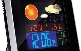 Solight meteostanice, teplota, vlhkost, budík, LCD, TE74