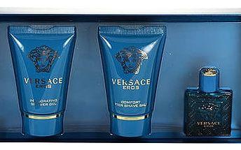 Versace Eros EDT dárková sada M - EDT 5 ml + sprchový gel 25 ml + balzám po holení 25 ml