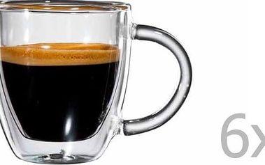 Sada 6 skleněných hrnků na espresso s ouškem bloomix Verona - doprava zdarma!