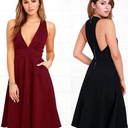 Dámské šaty s hlubokým výstřihem Janelle